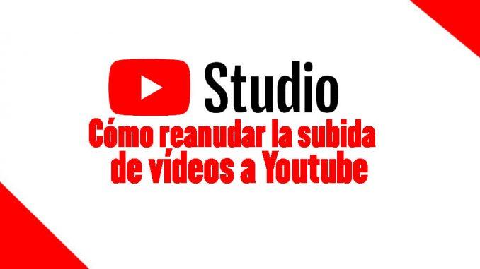 reasnudar subida de vídeos a Youtube
