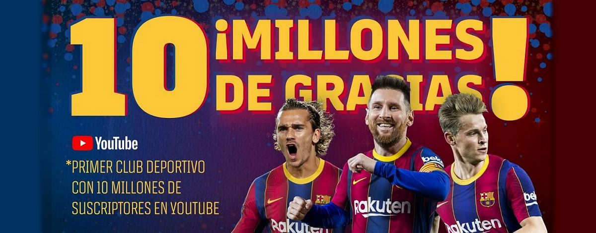 record en youtube del barcelona fc