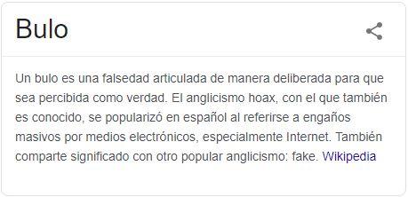 descripción de bulo en wikipedia