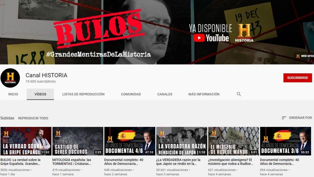 Canal en Youtube de HISTORIA