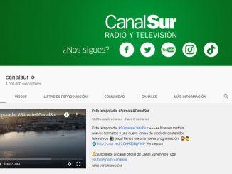 Canal de Canalsur en Youtube