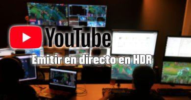 nueva emisión en directo por streaming en youtube con hdr