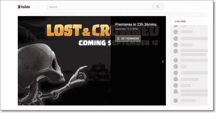 Premieres en Youtube