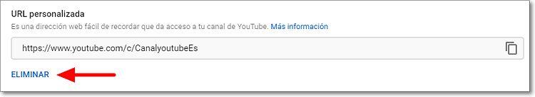 Eliminar nombre del canal en Youtube