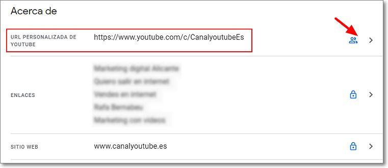 Acerca de para cambiar la url de tu canal en Youtube