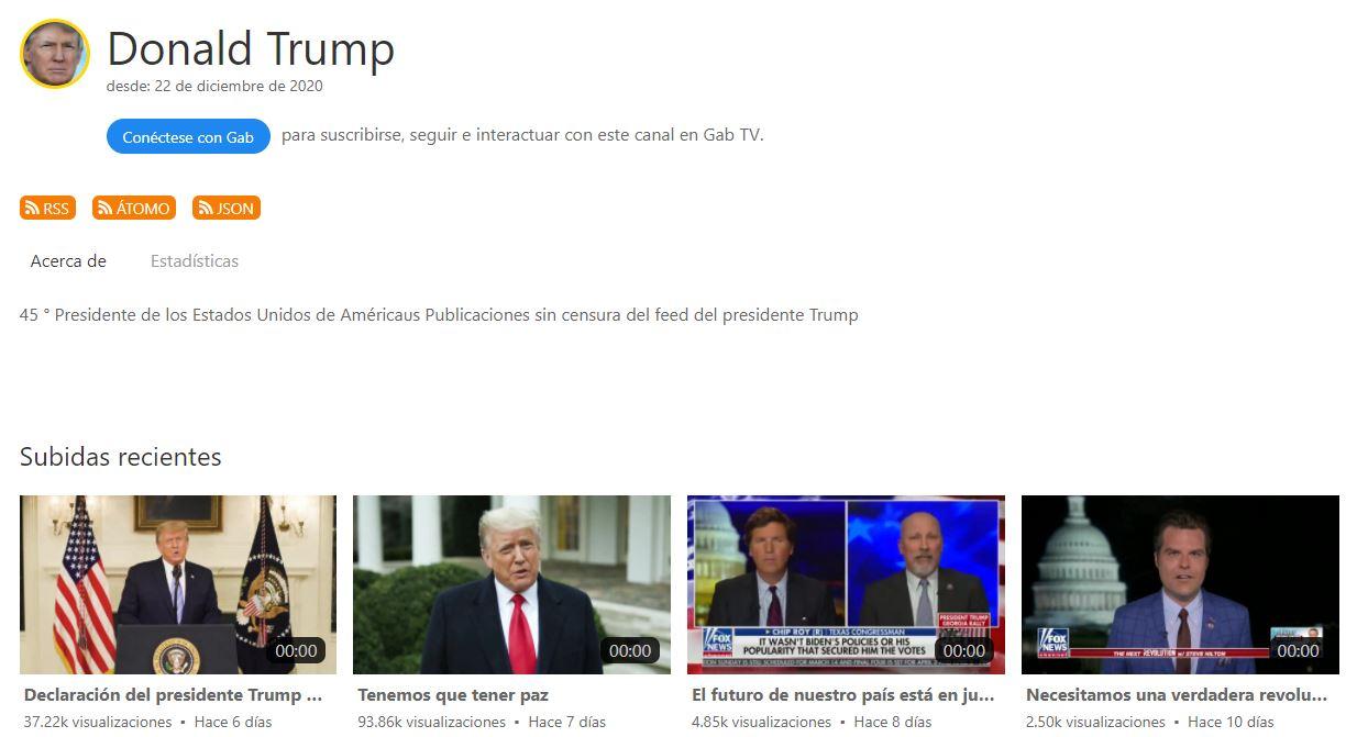 Canal de Donald Trump en Gap TV