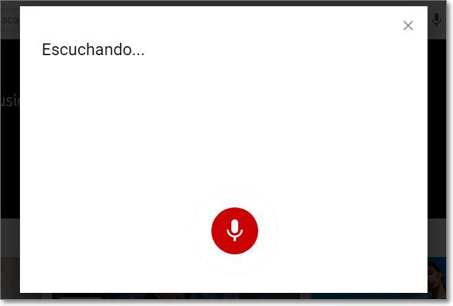 Escuchando navegador en voz para Youtube
