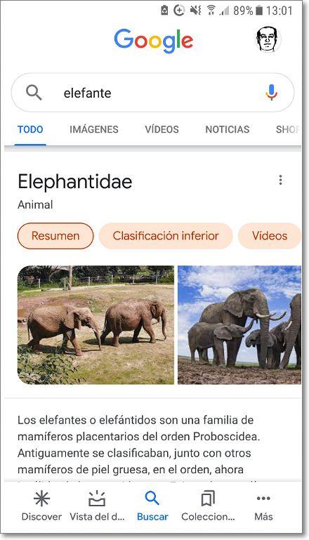 Nuevo diseño Google resultados búsqueda