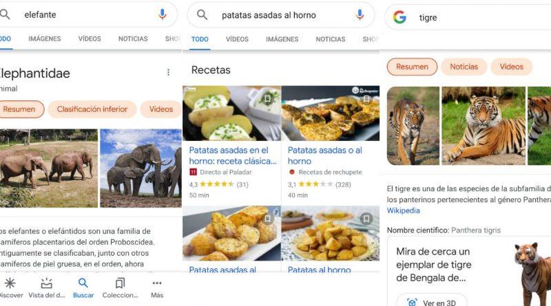 nuevo rediseño resultados de google smatphones