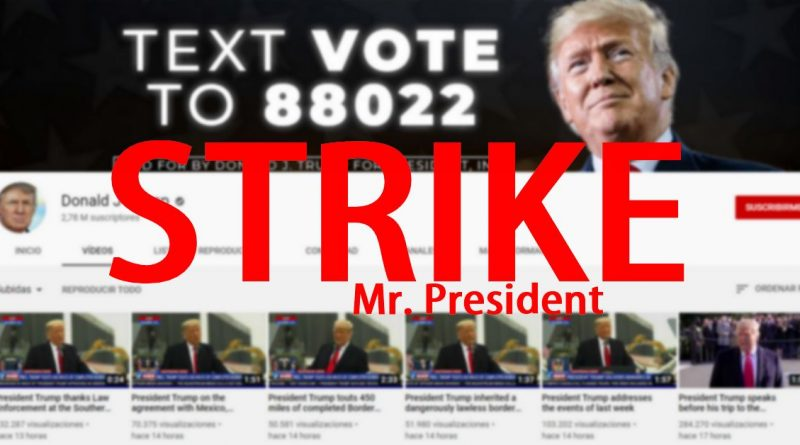 strike youtube donald trump