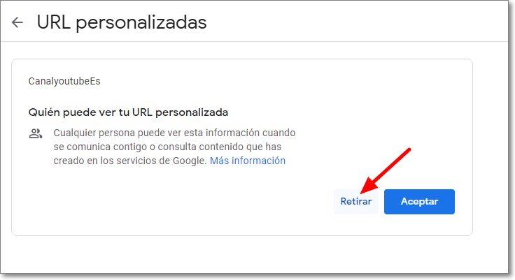 URL personalizadas en Youtube