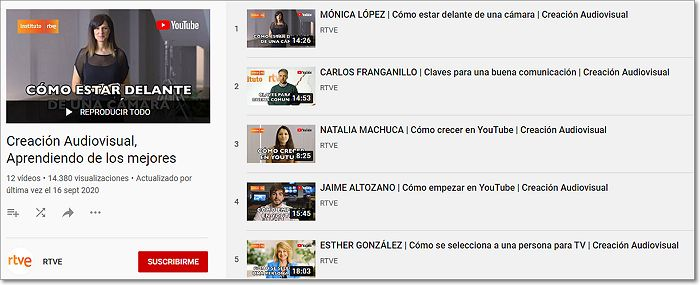 PlayList Webinars RTVE