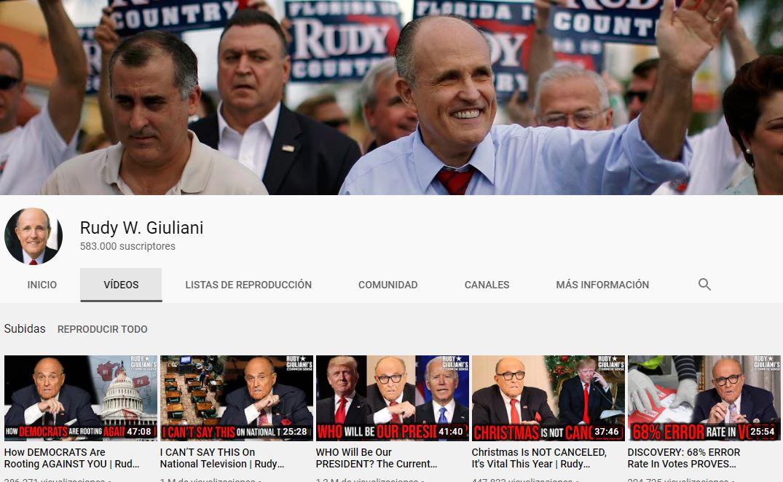 Canal Youtube Rudi Giuliani