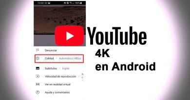 calidad resolución vídeos 4k youtube android