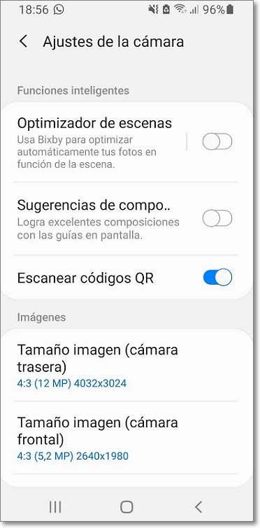 Escanear código QR en smartphone