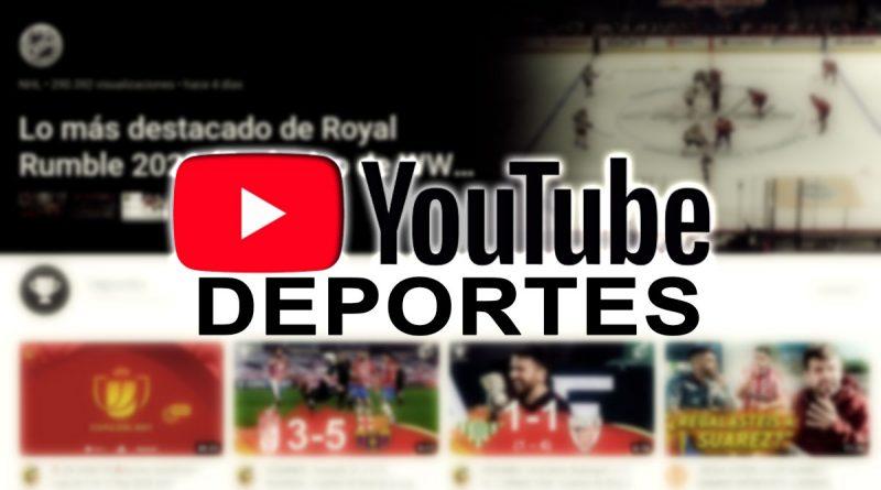 página de deportes en youtube