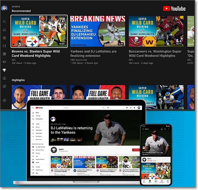Dispositivos deportes en Youtube