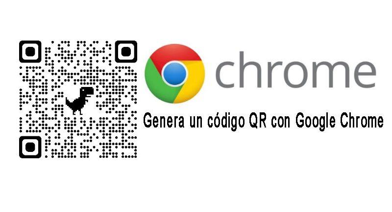 genera un código qr con chrome escritorio