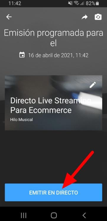 Empezar emisión Livestreaming por Youtube